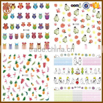 Factory Price Cute Korean Style Cartoon Nail Art Stickers For Kids