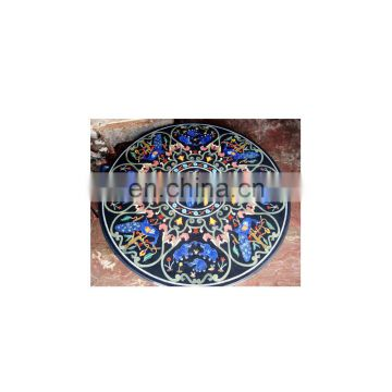 Lapiz Lazuli Marble Inlay Table Top Stone Inlay Table Top