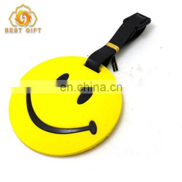 Fashion Smiling Face Rubber Traveling Luggage Tag