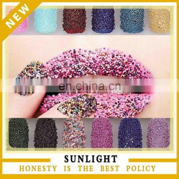 Nail Art Caviar Diy Colorful Glitter Glass Bead Caviar Nail Beads Of