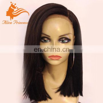Long Bob Cut Side Parting Lace Wig 100 Percent Malaysian Human Hair Lace Front Bob Wig For Black Women