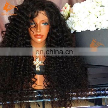 Wholesale Free Shipping Bleached Knots Lace Wig Natural 8A Grade Virgin Hair Curly Wig Brazilian Human Hair Full Lace Wig