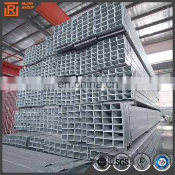 ASTM A53 galvanized rectangular hollow tube, hollow section steel pipe 30*20