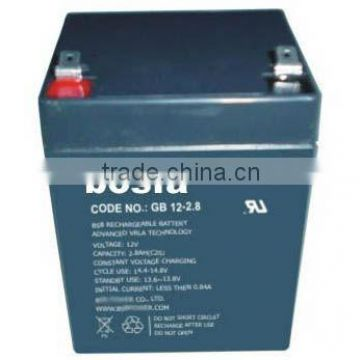 12v2.9ah access control battery with ce electric fence battery