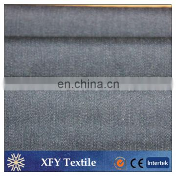 cotton polyester blended tc lycra imitation denim fabric