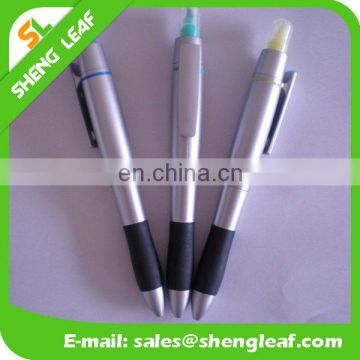 Two functions plastic ball pen