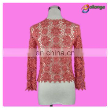 Newest Bailange 2015 blouses & tops product type lace blouse new fashion lace blouses for lady