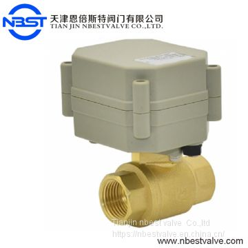 Motorized Ball Valve DN20 Motorized On Off Brass 3/4inch  Ball Valve