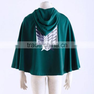 Attack on Titan Anime Shingeki no Kyojin Cloak Cape Cosplay Halloween Party WO