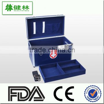 Blue Professional Custom New Lockable Durable Fireproof First-aid Device Storage Medical Box