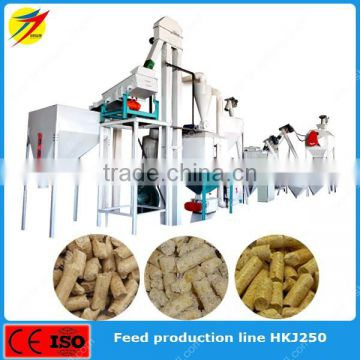 Manual ingredients animal feed mill production line plant