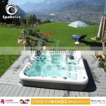 2016 hot sale new design fashion ce approva outdoor spa hot tubs for 8 persons