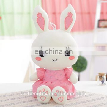 cute and lovely plush stuffed rabbit bed pillow holiday promotion toys