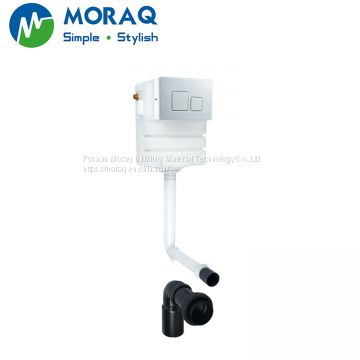 Concealed cistern for sitting pan in wall mounted platic cistern toilet tank