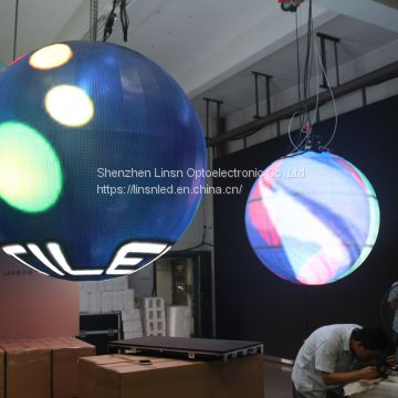LED Video Ball P4.8mm LED Ball For Indoor Application With Best Color Uniformity and High Definition