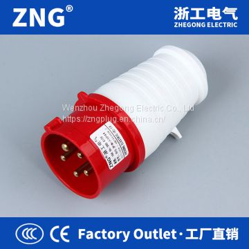 Wholesale 32A5P industrial plug, IP44 splashproof industrial plug 32A 3P+N+PE exporting