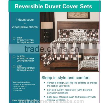 Alibaba China wholesale market 100% polyester fashion design reversible fabric textile quilt/duvet cover sets, bedding cover set                                                                         Quality Choice