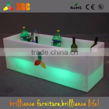 plastic bucket / big led illuminated wine beer cooler holder