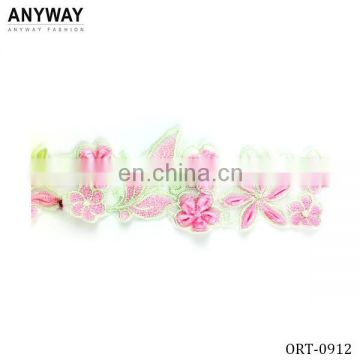 Custom Lace Flower Embroidered Ribbon for Clothing