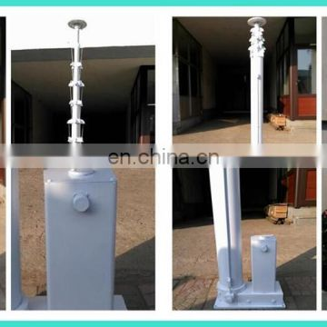 8m electric winch screw telescopic mast for