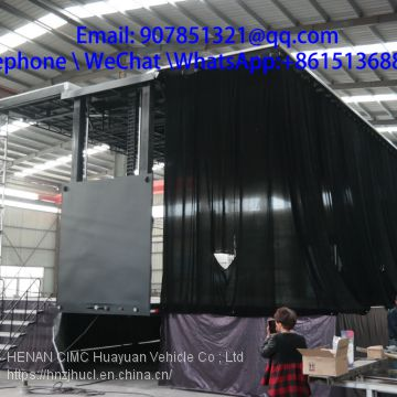 12 m large box trailer led mobile stage sales for roadshow
