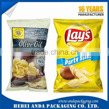 Eco-friendly Plastic Laminated Potato Chips Packaging