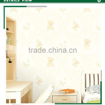 latest foaming non woven wallpaper, lovely animal wall sticker for kids room , decor wall sticker wholesale