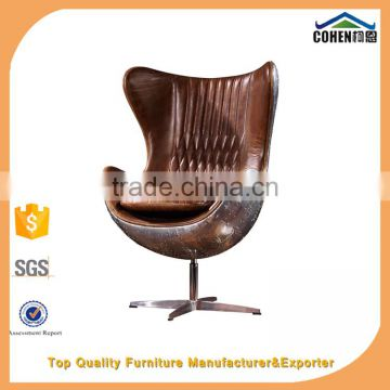high end vintage leather office furniture fiberglass egg chairs