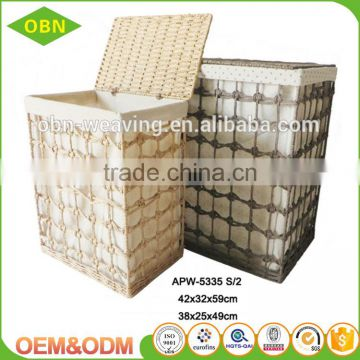 Wholesale customized China high quality cheap fabric hole weaving vintage hamper
