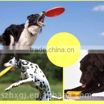 Durable And Non-toxic Silicone Rubber Dog Toy Dog frisbee pet toy