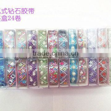 Custom Colorful All kinds of Shape Acrylic Rhinestone Gems Sticker Strips Acrylic Rhinestone Strip For Decoration
