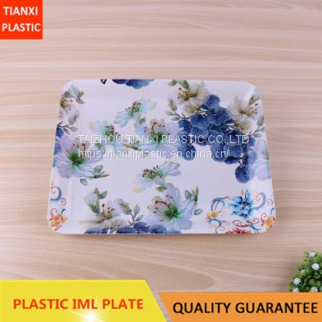 TX317-9 PLASTIC RECTANGULAR PLATE IML TRAY CHEAP
