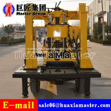 XYC-200A Tricycle Hydraulic Rotary Drilling Rig rock stample drilling rig