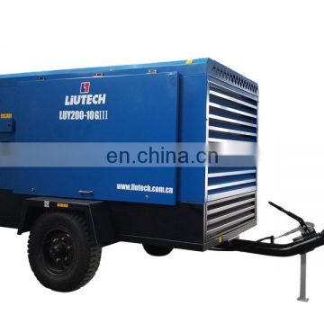 Liutech electric portable air compressor for Blast Hole Drilling and Ground Engineering Drilling