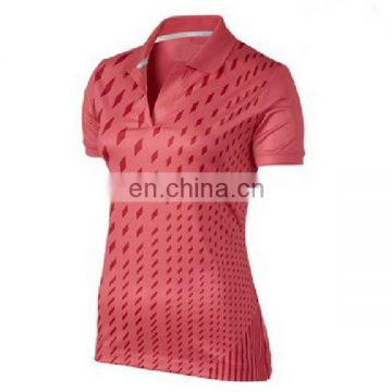 Custom sublimation coolmax women golf apparel
