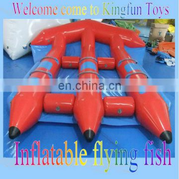 Good price inflatable flying fish boat for 6people