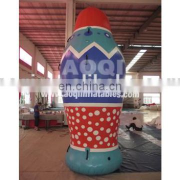 2015 new products colourful milk bottle advertising inflatable model
