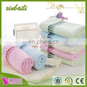 China suppliers wholesale 34*75 jacquard bamboo fiber face towel