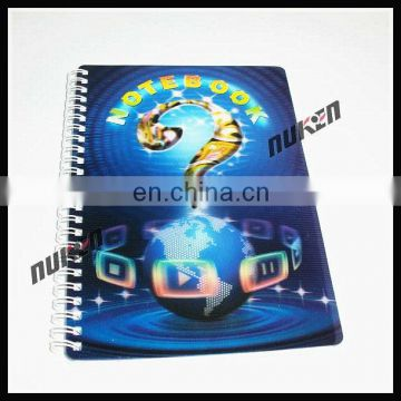 Lenticular cover 3d 80 sheet 300g notebook