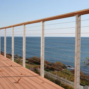 DIY Cable Railing / Wire Rope Railing Balustrade with Stainless Steel Wire Ropes for Decking