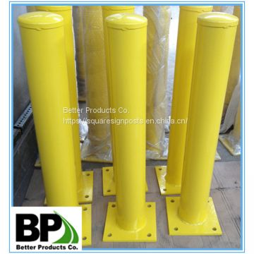 Heavy-duty welded steel bollards