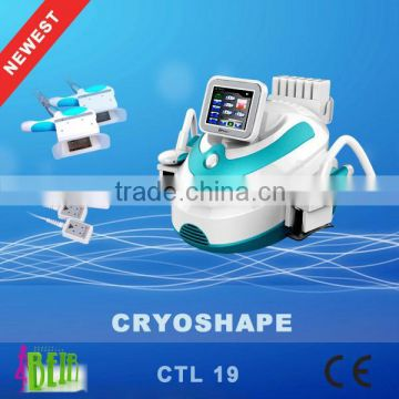 Newest cryo handle working cold lipolysis lipo laser fat loss machine for salon use