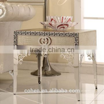 cheap price stainless steel high end side table/modern furniture corner table