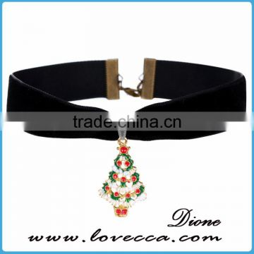 2016 Factory Price Fashion Short Design Pendant Necklace Christmas Necklace
