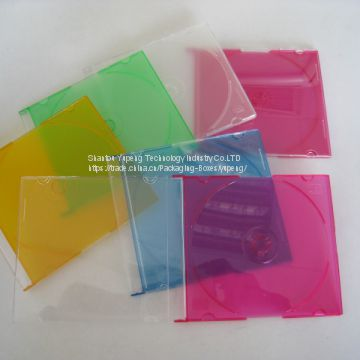 Plastic silm jewel CD Case Plastic silm jewel CD Box Plastic silm jewel CD Cover 5.2mm square  with Colour Tray