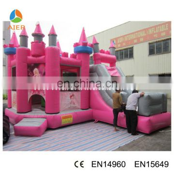 2017 inflatable castle / bounce castle with slide / inflatable bouncy slide