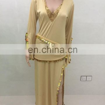 Glittery long Islamic dubai arabic saidi muslim gown robe dress clothing GT-1064 of Belly dance high-class costumes from China Suppliers - 158259084