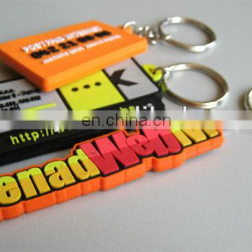 plastic custom rubber name keychains for gifts