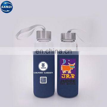 Custom transparent sports glass bottle with LOGO