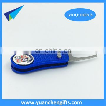 China manufacturer bulk metal golf tees whlesale custom divot tool with golf Ball Marker
